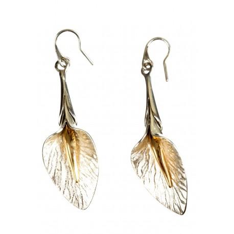 Sadabriniai auskarai su auksuotu žalvariu
