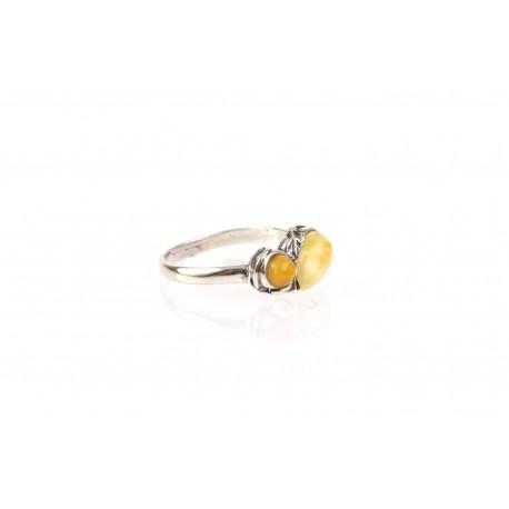 """Sidabrinis žiedas su gintaru """"Vasaros žara"""""""