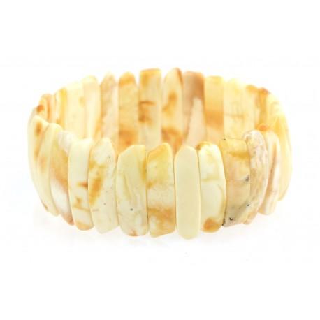 Balto - geltono gintaro apyrankė