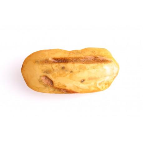 Antikvarinė, baltai - geltono gintaro segė