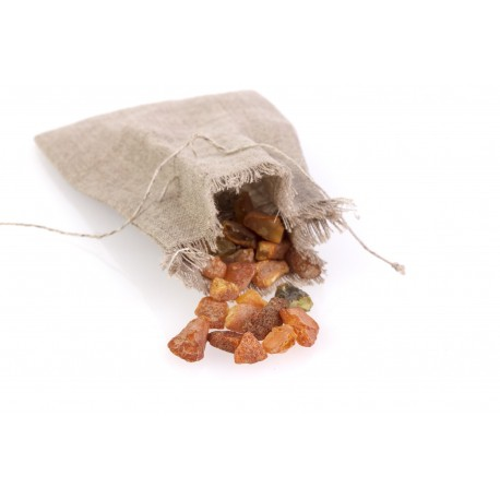 Lininis maišelis su gintaru
