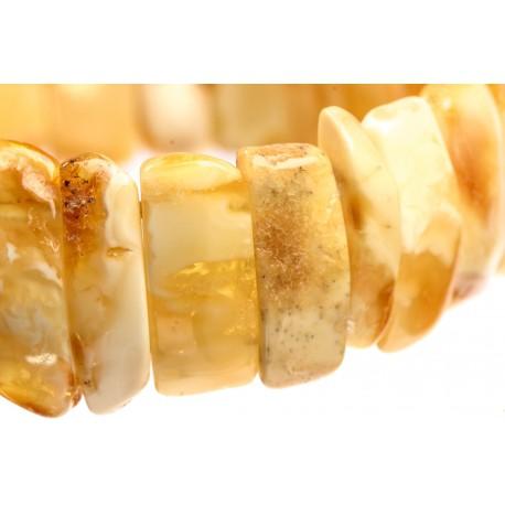 Geltono ir balto gintaro apyrankė