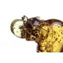 Skaidraus geltono gintaro figūrėlė