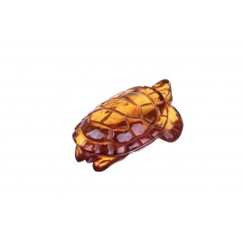 Konjakinės spalvos gintarinė figūrėlė - vėžlys