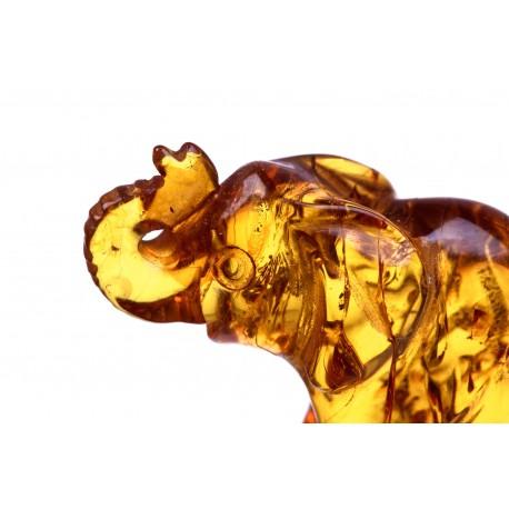 Gintaro figūrėlė - dramblys