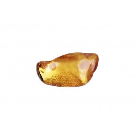 Geltonos spalvos gintaro gabalėlis