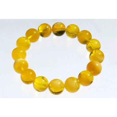 Išskirtinė geltonojo gintaro apyrankė