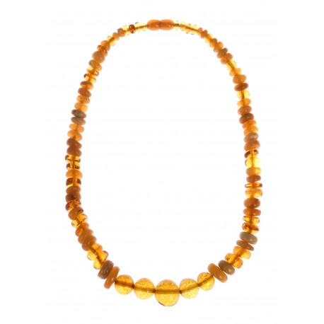 Antikvarinis geltonojo gintaro vėrinys
