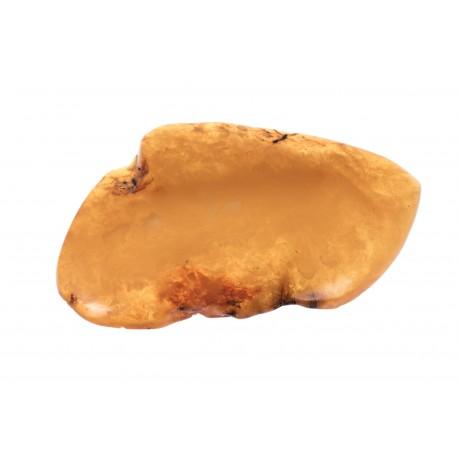 Antikvarinė geltono gintaro segė