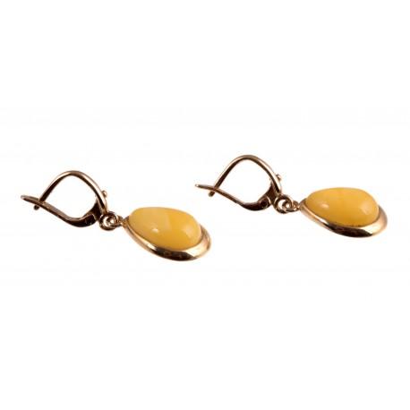Kabantys auksiniai auskaari su gintaru