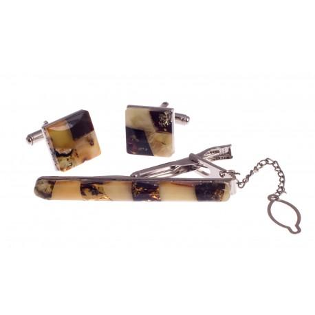 Sąsagų ir kaklaraiščio segtuko komplektas