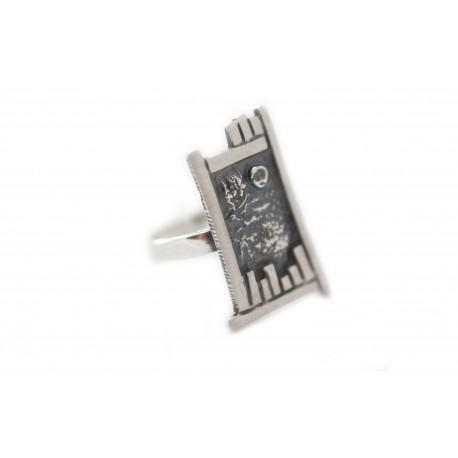 Juodinto sidabro žiedas