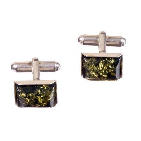 Žaliojo gintaro sidabrinės sąsagos