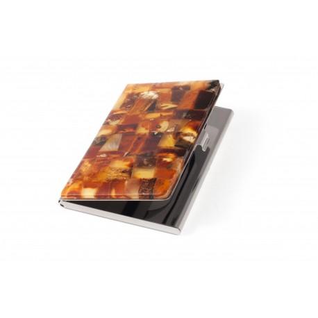 """Margo gintaro mozaika dekoruotas dėklas vizitinėms kortelėms """"Greitis"""""""