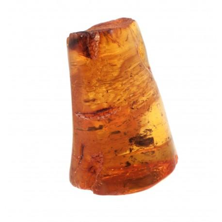 Skaidrus gintaras su dalimi paliktos žievės