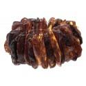 Masyvi rudojo gintaro apyrankė