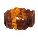Natūralaus rudojo gintaro apyrankė