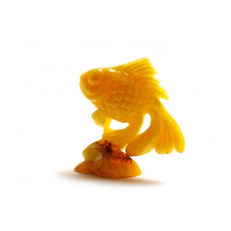 """Gintaro figūrėlė """"Žuvis"""""""