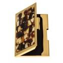 Vizitinių kortelių dėklas dekoruotas gintaru