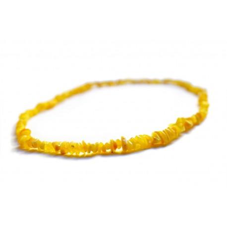 Geltonosios citrinos atspalvių gintarų vėrinys