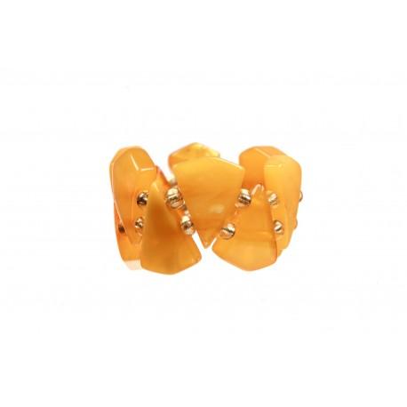 Geltonojo gintaro žiedas