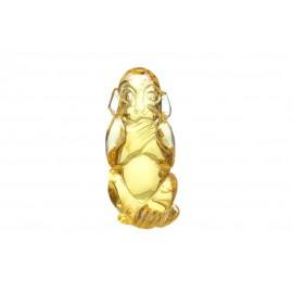 Gintarinė beždžionės figūrėlė