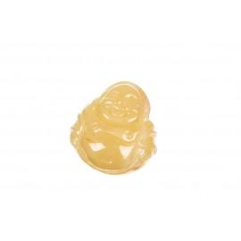 Geltono gintaro Budos figūrėlė