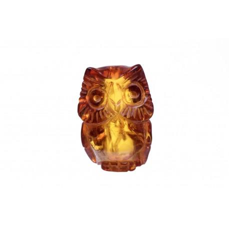 Gintaro figūrėlė - pelėda