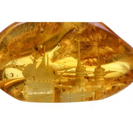 Gintaro gabalėlis su panorama
