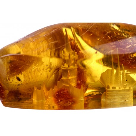 Gintaro gabalėlis su 3d panoramos atvaizdu