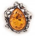 Sidabrinis žiedas su konjakiniu gintaru