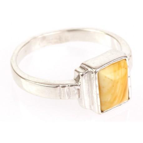"""Sidabrinis žiedas su gintaru """"Marso kanjonai"""""""