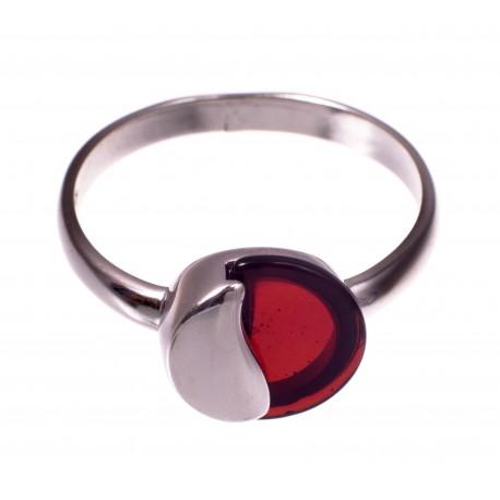 """Gintaro - sidabro žiedas """"Saulėta pakrantė"""""""