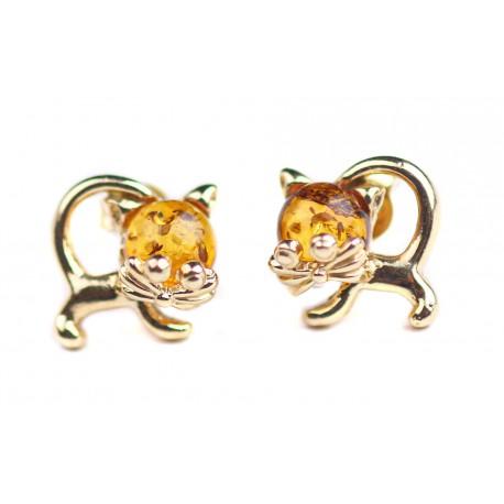 "Auksiniai auskarai ""Katinukai"""