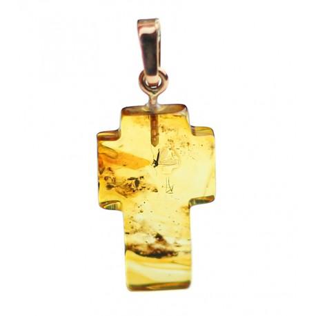 Aukso - gintaro pakabukas su inkliuzu