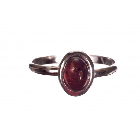 Sidabro - gintaro žiedas