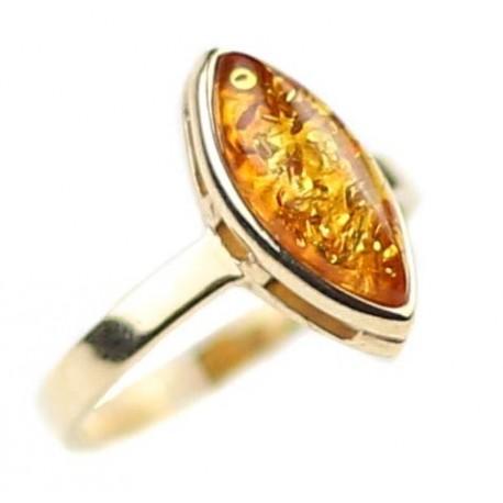 Aukso - gintaro žiedas