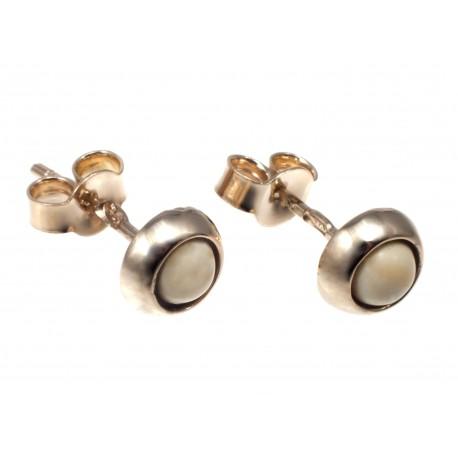Auksiniai auskarai su gintaru