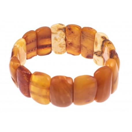 Geltono antikvarinio gintaro apyrankė