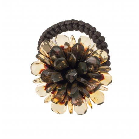 Plaukų aksesuaras - gintarinė gėlė